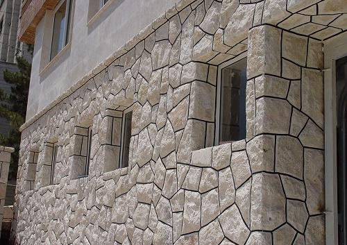دیوار چینی با انواع سنگ